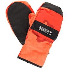 Варежки сноубордические DC Franchise Mitt Red Orange Dcu Camo