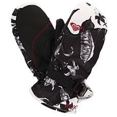 Варежки сноубордические женские Roxy Jetty Mitt True Black love Lett