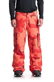 Штаны сноубордические DC Banshee Red Orange Dcu Camo3
