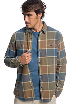 Рубашка в клетку QUIKSILVER Coldbrflannelsh Kangaroo1