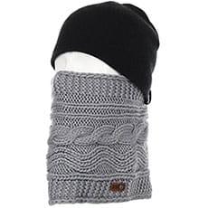 Шарф труба женский Roxy Winter Collar Warm Heather Grey2