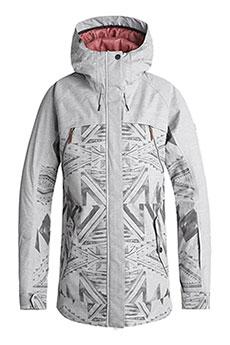 Куртка сноубордическая женская Roxy Tribe Warm Heather Grey_ma