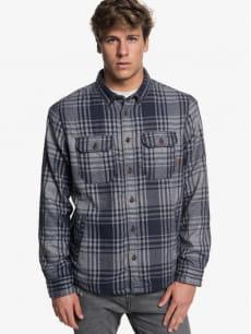 Серый мужская верхняя рубашка the waffle