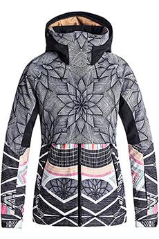 Куртка утепленная женская Roxy Frozen Flow True Black_pop Snow3