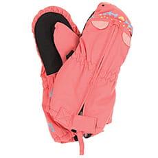 Варежки сноубордические детские Roxy Snows Up Mitt Shell Pink