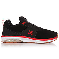 Кеды низкие DC Heathrow Ia Se Black/Athletic Red_2