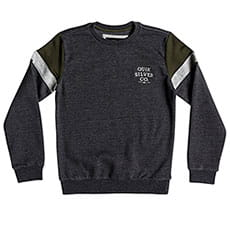 Толстовка классическая QUIKSILVER Kumanokodocrewy Dark Grey Heather_1