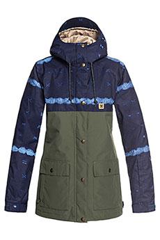 da2fe4012d2 Куртка сноубордическая женская DC Cruiser Jkt Dark Blue Mud Cloth