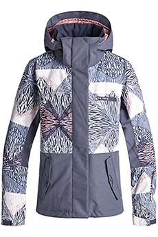 Куртка сноубордическая женская Roxy Rx Jetty Block Powder Blue_animal
