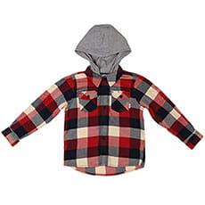 Рубашка в клетку детская Element Tacoma 2.0 Hood Pompeian Red