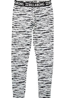 Термобелье (низ) Billabong Warm Up Tech Pant Black/White
