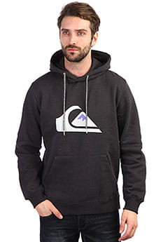 Толстовка кенгуру QUIKSILVER Big Logo Hood Dark Grey Heather
