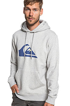 Толстовка кенгуру QUIKSILVER Big Logo Hood Light Grey Heather