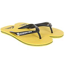 Вьетнамки QUIKSILVER Molokai Black/Yellow/Yellow
