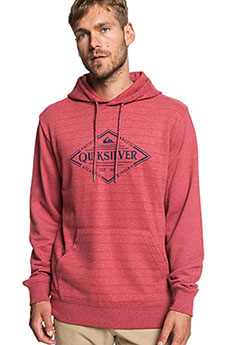 Толстовка кенгуру QUIKSILVER X Elite Brick Red Screen Hoo