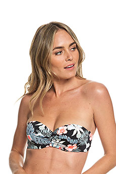 Бюстгальтер женский Roxy Pt Be Cl Mo Bd Anthracite Tropicala
