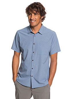 Рубашка QUIKSILVER Techtidesshirt Blue Shadow Marl