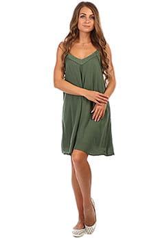 Платье женское Roxy Off We Godress Duck Green