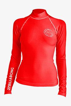 Гидрофутболка женская Billabong Logo In Ls Sunset Red1