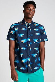 Рубашка Element Hoffman Ss Shirt Neon Blue