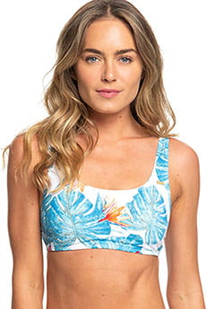Бюстгальтер женский Roxy Sum Del Bralet J Bright White Midnigh