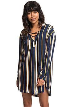 Мультиколор женское платье-рубашка с длинным рукавом lonely for you