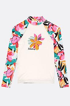Гидрофутболка женская Billabong Flower Ls Teens Seashell