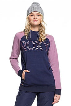 Толстовка кенгуру женская Roxy Liberty Hoodie Medieval Blue