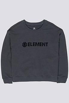 Толстовка классическая Element Logo Crew Fleece Off Black