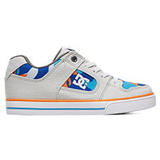 Кеды низкие детские DC Shoes Pure Elastic Se Blue/Orange