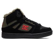 Кеды зимние детские DC Shoes Pure Ht Wnt Black/Olive Night