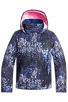 Куртка утепленная детская Roxy Jetty Girl Medieval Blue Sparkl