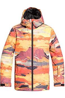 Куртка утепленная детская QUIKSILVER Сноубордическая Mis Prin Barn Red Matte Paint