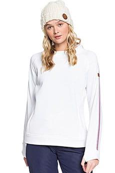 Толстовка сноубордическая женская Roxy Resin Overhead Bright White