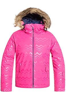 Куртка утепленная детская Roxy Jet Ski Sol G J G Snjt Beetroot Pink Aztecs