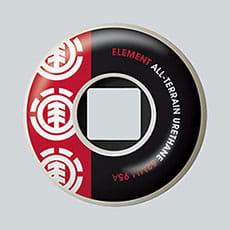 Оранжевые колеса для скейта element section 52 mm