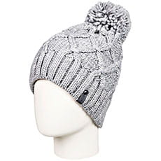 Шапка носок Roxy Winter Beanie Heather Grey