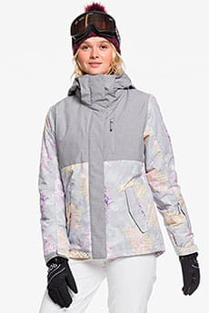 Куртка сноубордическая женский Roxy Jetty Block Micro Chip Edelweiss