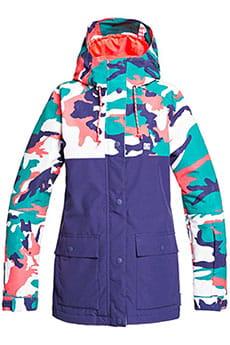 Куртка утепленная женская DC Shoes Cruiser Blue Grass Vinta