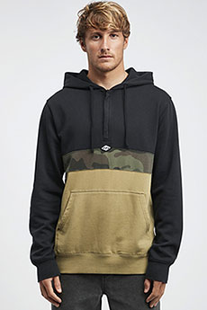 Толстовка кенгуру Billabong Wave Washed Half Zip Black