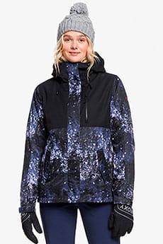 Куртка утепленная женская Roxy Jetty 3n1 Jk Medieval Blue Sparkl