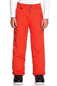 Штаны сноубордические QUIKSILVER  Porter Youth Poinciana Красный