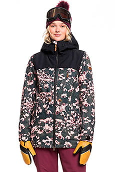 Куртка утепленная женская Roxy Stated True Black Poppy