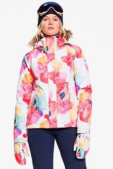 Куртка утепленная женская Roxy Jet Ski Bright White Aquarel