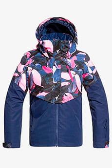 Куртка утепленная женская Roxy Frozen F Girl J G Snjt Medieval Blue Plumes