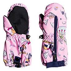 Варежки сноубордические детские Roxy Snows Up Mitt Prism Pink Snow Trip