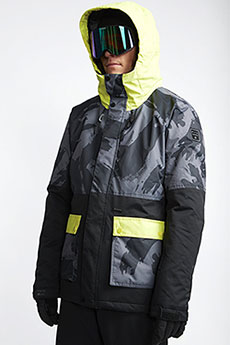 Желтый мужская сноубордическая куртка fifty 50