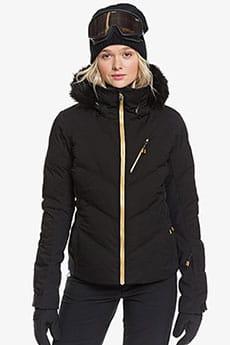 Куртка утепленная женская Roxy Snowstorm Plus True Black