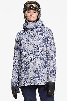 Куртка утепленная женская Roxy Glade Print Heather Grey Botanic