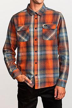 Рубашка в клетку RVCA Muir Flannel Rust Orange